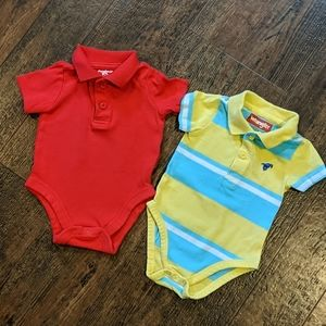 (lot of 2) 3-6m polo shirts